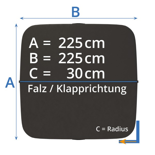 Cover - Isolierabdeckung Whirlpool 225 x 225