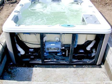 Kann ich einen jakuzzi im garten eingraben fragen antworten whirlpool aqua whirlpools - Einbau whirlpool outdoor ...