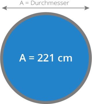 Cover - Isolierabdeckung Whirlpool 221 cm rund