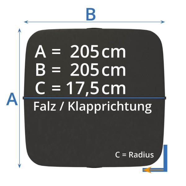 Afdekking - Isolatieafdekking whirlpool 205 x 205 cm