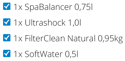 1x Ultrashock 1,0l | 1x Filter Clean Natural | 1x FilterFlosser