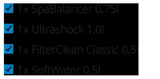 1x Ultrashock 1,0l | 1x Filter Clean Classic | 1x FilterFlosser