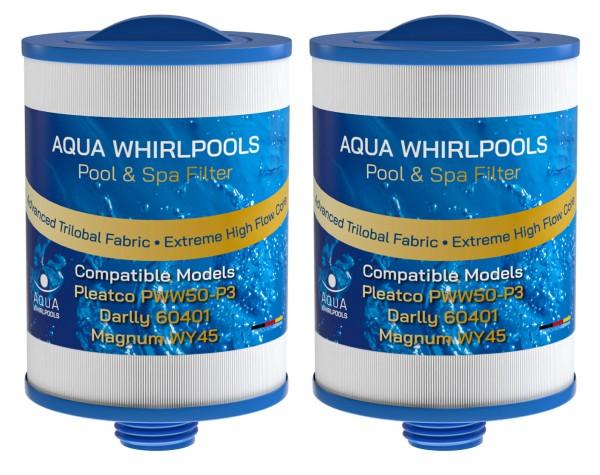 Ersatz Filter Bundle 2x Pleatco PWW50-P3, Darlly 60401, SC714, Magnum WY45