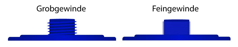 Unterschied Grob- & Feingewinde